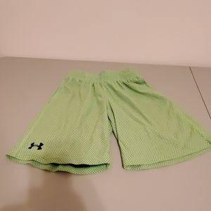 Lime green youth Large Under Armour Shorts